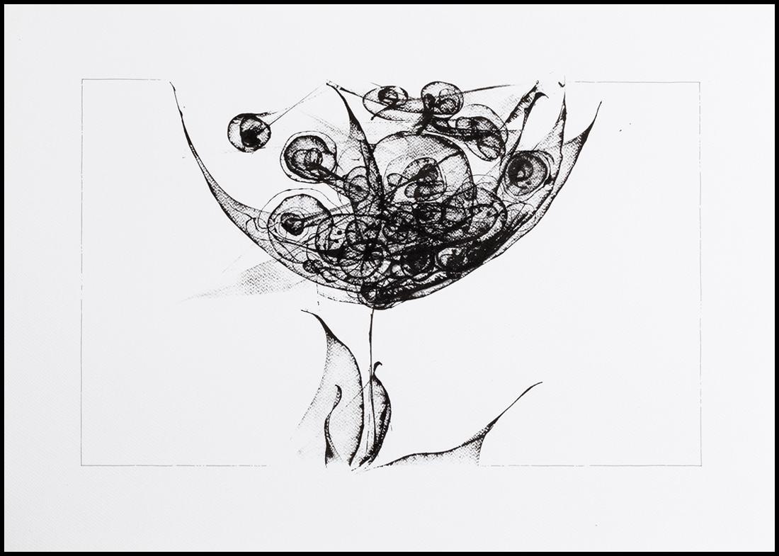 Grafică - Memory 3, 2016, tuș pe hârtie, 50×70 cm