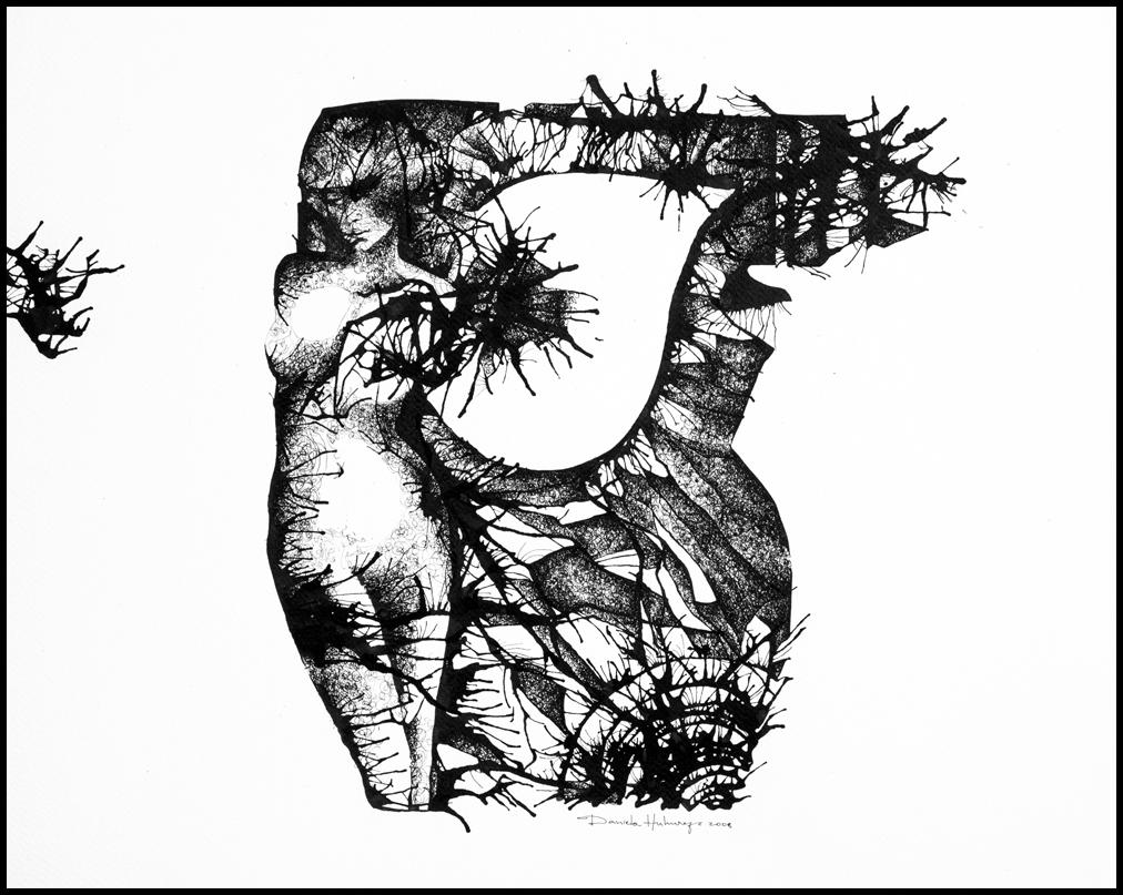 Grafică - Venus, 2008, tuș pe hârtie, 39×49 cm